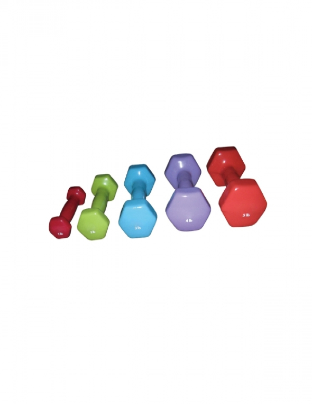 W 2601 VINYL DUMBELLS HEXAGON