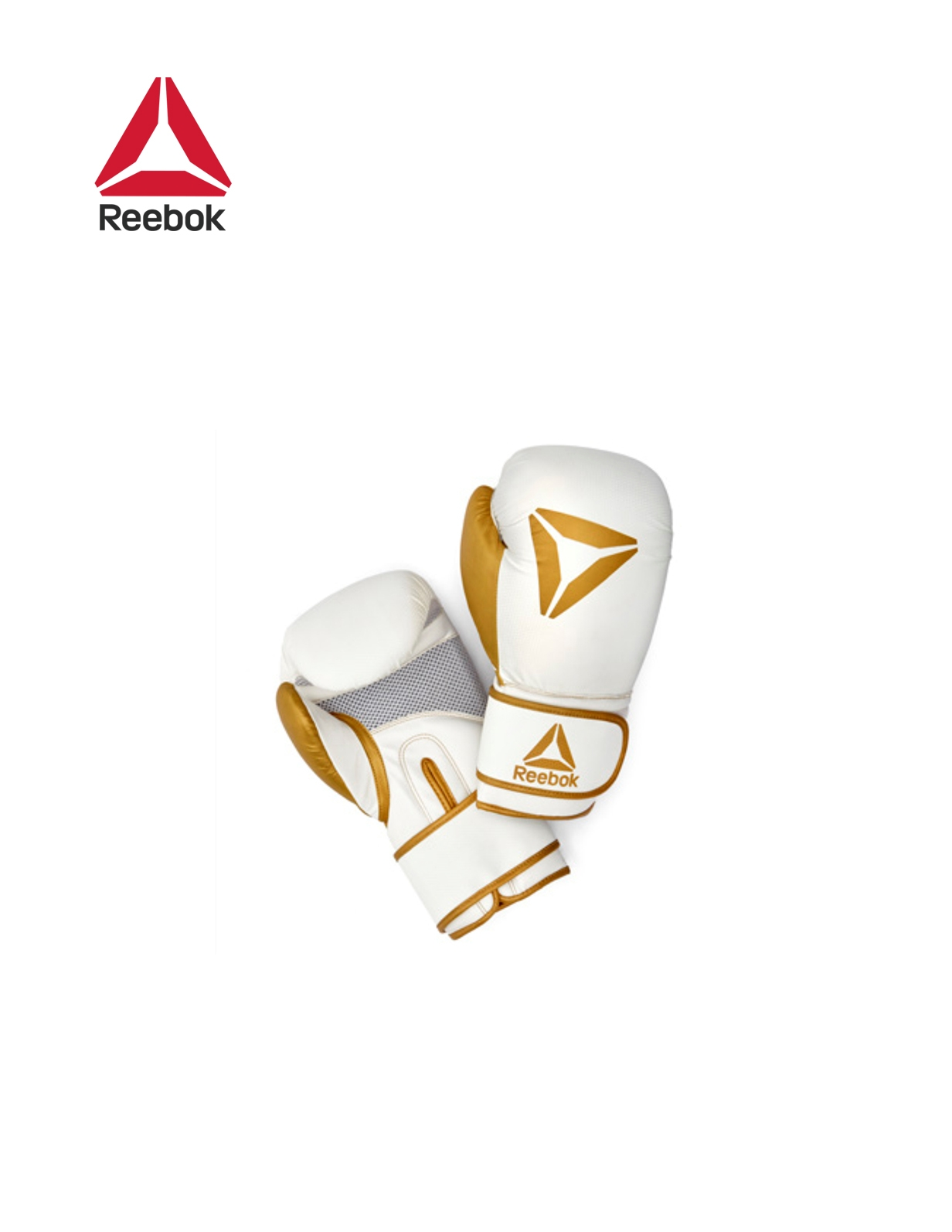RETAIL BOXING GLOVES- GOLD / WHITE