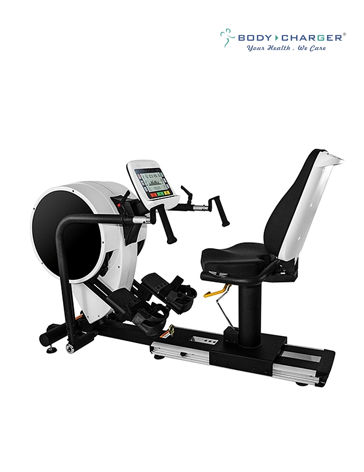 GB7008 EMS-9′ DUAL ACTION RECUMBENT STEPPER PRO