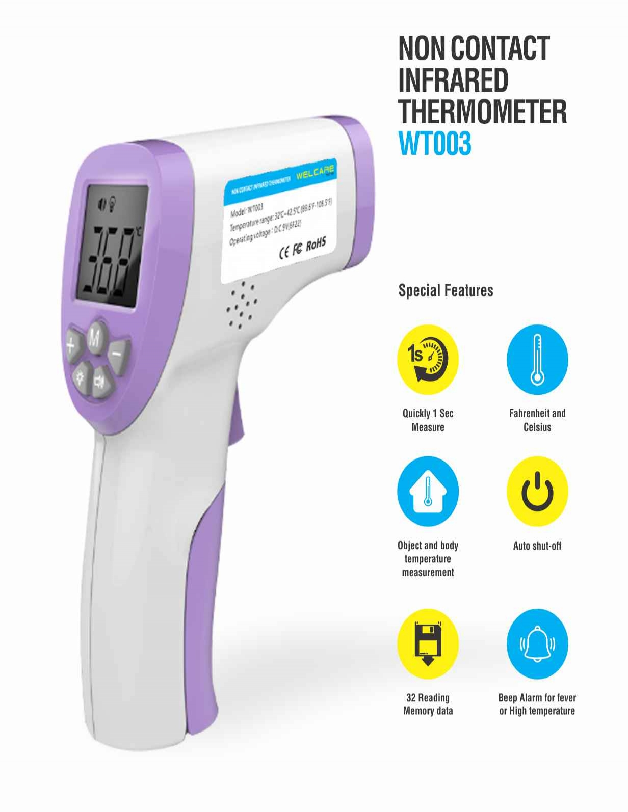 Non Contact infrared Thermometer WT003