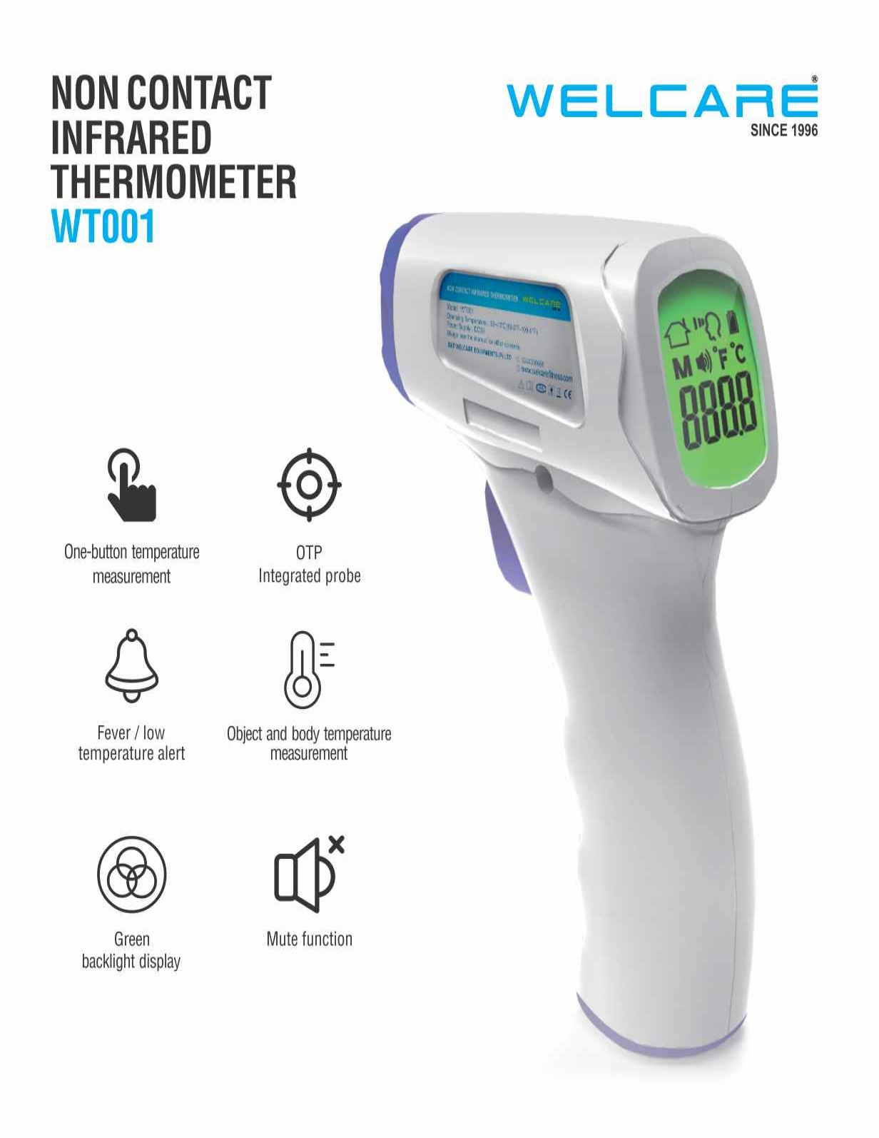 Non contact infrared thermometer WT001